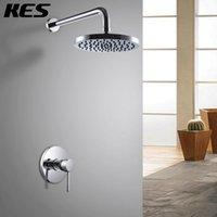 bathroom trim - KES X6200 Bathroom Single Handle Shower Trim Valve Body Complete Kit Minimalist ROUND Polished Chrome