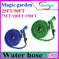 best hose spray nozzle - 500pcs Expandable Flexible Water Garden Hose hose flexible for water flowers Best quality with valve and Spray Nozzle ZY SG