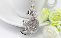 Wholesale Fashion Keychain Lovely Gifts Bag Charm Pendant Personalized Keyrings Jewelry Key Ring with Alloy New Key Holder Crystal Charms Trinket