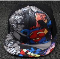 adjustable captain hat - Kids Baseball Cap Fashion Iron Man Captain Superman Batman Spider Man One Piece Snapback Caps Children Boys Hip Hop Hat Outdoor shade