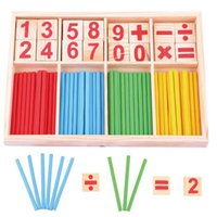 Wholesale Baby Toys Counting Sticks Education Wooden Toys Building Intelligence Blocks Montessori Mathematical Wooden Box Child Gift