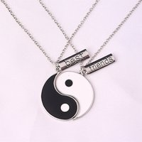 best tai chi - Romantic Eight Diagrams Tai Chi Black and White best friends pendant necklace BFF yin yang necklace friendship top jewelry
