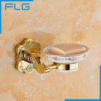 bathroom vanity baskets - New Golden finish brass Soap basket soap dish soap holder bathroom accessories bathroom furniture toilet vanity