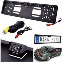 Wholesale New Europe license plate frame European Universla Car License Plate Frame Auto Reverse Rear View Backup Camera LED