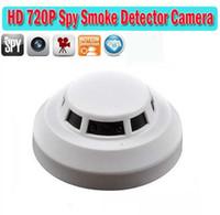 Wholesale HD p Smoke detector spy Camera Remote Control Hidden camera Video Recorder Camcorder Mini DV DVR camera