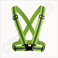 achat en gros de vêtements réfléchissants de tissu-300pcs CCA3742 Nouveau vêtements de sécurité Cheap Chaleco Reflectante réfléchissant matériel 3M tissu Band Tap Band Vest Jacket Sports Outdoor Gear