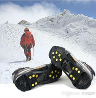 Wholesale Over Shoe Studded Snow Grips Ice Grips Anti Slip Snow Shoes Crampons Cleats