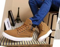 Wholesale New Zapatos de Hombre Mens Fashion Spring Autumn Leather Shoes Street Men s Casual Fashion High Top Shoes Canvas Sneakers