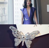 Wholesale Luxury Butterfly Brooches Clear Crystal Butterfly Pins Brooch Wedding Party Jewelry Brooches Style In Stock