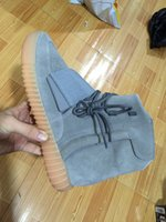 achat en gros de éclairage baskets casual-2016 Boost 750 Light Grey Gum Glow In The Dark Kanye West Chaussures Basketball Shoes Sneakers 750 Boost Men Sports Casual Boosts