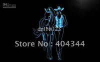 beer horses - LB762 TM Western Cowgirls Horse Beer Bar Neon Light Sign Advertising led panel