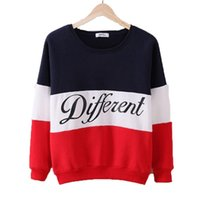 autumn fashion tumblr - Women Hoodies Sweatshirts Autumn winter patchwork letter pullover hoodies tumblr sweatshirt fleece women long sleeve top fashion printed