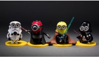 Wholesale 4pcs set cm Minions Cosplay Star Wars Darth Vader Stormtrooper Luke Skywalker PVC Action Figure Toys Collectible Model Gift