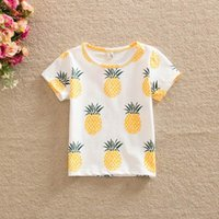 Cheap 2016 Summer Baby T-shirts Pineapple Fruit Print Short Sleeve Fashion T-shirts Children Clothing 1-5T T155