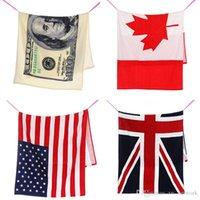 beach towels canada - DHL free fashionable cotton Bath Towel cm beach shower swim towel dollar bill Canada America Briton national flag pattern towel