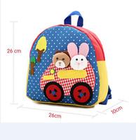 Mixed baby animals books - Children s backpacks baby Kids Handmade Backpack Schoolbag school bags Satchel book bag