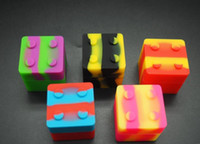 19g best color block - Best selling rich color stackble silicone container for wax vaporizer block slick container