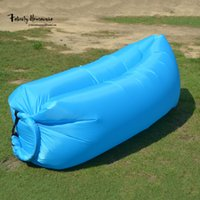 Wholesale 260 cm Inflatable Outdoor Air Sleep Sofa Couch Portable Furniture Sleeping Hangout Lounger Polyester HPPE liner for Summer Camping Be