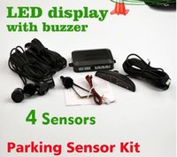 Wholesale DHL fast delivery Car LED Parking Sensor Kit Display Sensors for all cars Reverse Assistance Backup Radar Monitor System