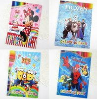 Wholesale Colouring Books for Children Cartoon Style Frozen Minions My Little Pony Spiderman Princess for Kids Drawing Sketch Painting Toys in Stock