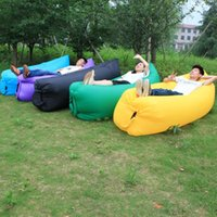 Wholesale Hot Fast Inflatable Air Sleeping Bag Hiking Camping Bed Beach Hangout Lazy Sofa
