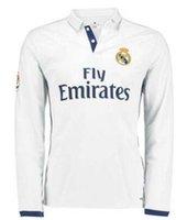 Wholesale real madrid jersey long sleeve ronaldo football jerseys full sleeve home away bale football shirt