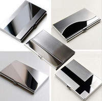 Wholesale Waterproof Stainless Steel Silver Aluminium Metal Case Box Business ID Credit Card Holder Case Cover L09407