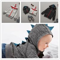 Wholesale Baby Coat Spring Autumn New Kids Hoodie Dinosaur Jacket Girls Cute Outwear Cotton Sport Casual Cartoon Boy s Coats Stylish Warm Colors