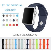 Wholesale band for apple watch sport strap fluoroelastomer wrist pin and tuck closure silicone Colorful replacement official colors