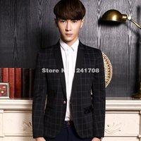 Wholesale 2016 Autumn Long Sleeve Men s Business Suit Jacket Plus Size Bridegroom Blazer