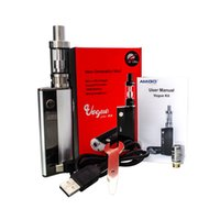 Cheap Authentic Amigo Vogue 50W Box Mod Kits E Cigarette Kits 2ml Mini Riptide Vaporizer 2500mAh Huge Vapor