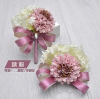 best corsage flowers - 2016 Wedding Bridegroom Brooch Pin Wrist Corsage Party Decoration Bridal Prom Handmade Bridesmaid Best Man Flower Brooches