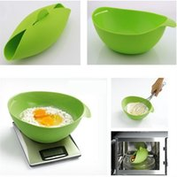 Wholesale New Silicone Folding Bowl Home Kitchen Microwave Oven Steamer Silicone Bowls Soft paste Baking Fish Steam Roaster Bread Food Cook Tool
