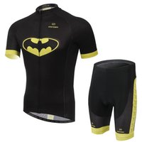 bat man suit - new bat riding cycling wear short sleeved suit summer breathable wicking speed dry clothing