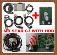 Precio de Herramientas de disco duro-El sistema de diagnóstico de la estrella del MB Touble cifra la herramienta C3 para el Benz Diagnostica el multiplexor de Xentry con HDD para IBM T30 / Dell D630 dhl freeshipping