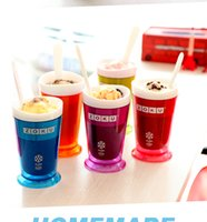 Wholesale 2016 ZOKU Slush Shake Maker Ice Make Smoothie Cup Authentic Home made Ice Cream Tools Creative Cups Drinkware Factory DHL