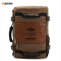 aaron hands - Aaron Carteras Marca Pure Canvas Personalized Mochila For Male Casual Outdoors Tactical Bag Travel Necessity Laptop Hand Bag