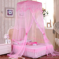 Cheap Hot Sale Mosquito Net Princess Style Round Lace Insect Bedding Canopy Durable Bed Curtain Dome Mosquito Net for Double Bed JQ0037