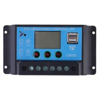 Wholesale USB Solar charge controller A With Dual USB Output V V auto work LCD Dispaly PWM Solar regulator Max W Input Top Sale