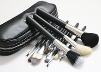 bag brush - Brand Goat Hair MC Makeup brush set blending powder foundation eyebrow cosmetics Make Up contour brush tools with brush bag