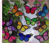 Wholesale 4 cm cm butterfly embroidery cloth affixed with glue can be sewed iron on clothing DIY patches subsidies