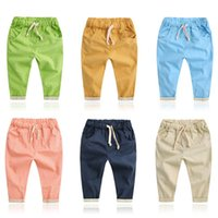 Wholesale Hot Baby boys Pants Casual Loose Trousers Summer Bottoms Harem Long Pants Fashion Toddlers Clothes
