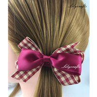 Wholesale 3 inch beautiful hair bow clip new fashion girls hair accessories children duckbill clip kids bows lilycrafts original design bows with clip