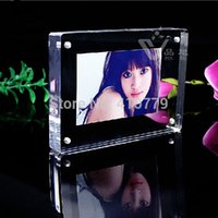 Wholesale Acrylic Magnet Photo Frame Inch x102mm mm Bedroom Decor Four Arc Design Creative Crystal Picture Frame