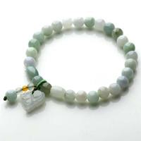 authentic jade bracelet - Counters authentic myanmar A cargo jade bead bracelet handmade beaded jewelry jade the mythical wild animal jade pendant