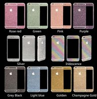 Wholesale Full Body skin cover Glitter Bling Sticker Matte Screen Protector For iPhone S plus s Galaxy S7 edge s6 s5 s4 Note