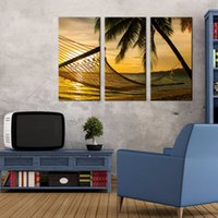 beach bar pictures - LK353 Panel Exquisite Beach Sunset Seascape Oil Painting Wall Art Mordern Pictures Print On Canvas Paintings Sale For Home Bar Hub Kitc