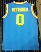 Wholesale to all country UCLA Russell Westbrook Blue College Basketball Jersey name number stitched