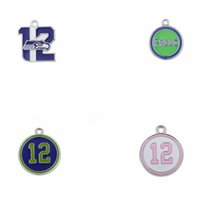 Wholesale 100pcs Mixed Seahawks Spirit of the s loud and proud enamel charm fans jewelry H109416