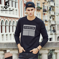 band pullover hoodies - Pioneer Camp Men Hoodies Band new design fall autumn Sports Hoodies Men Fashion Sweatshirts male Masculine